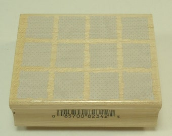 Geometric Squares E2470 Wood Mounted Rubber Stamp By Hero Arts Background