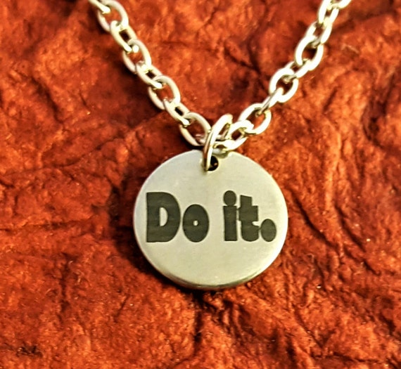 Running Jewelry, Just Do It Gifts, Triathlon Jewelry, Do It Charm Necklace, Sports Triathlete Gifts, Inspirational Gift, LDS Jewelry Charms