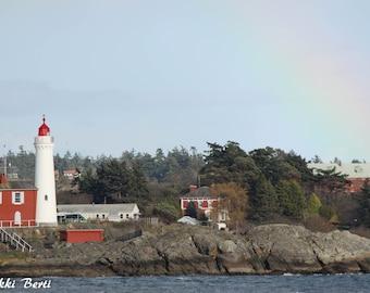 A Rainbow Over the Lighthouse Print
