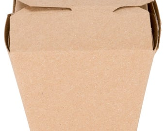8 oz Kraft Microwavable Paper Take-Out Container, Take Out Boxes, Containers, Take Out Container, Eco-Friendly, Wedding Favor, Party  Favor
