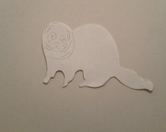 Personalised Ferret Pattern