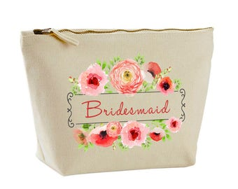 Personalised Wedding Favour Gift Make Up Bag by Inspired Creative Design