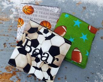 Boys Wallet, Soccer Wallet, Sports Wallet, Ring Bearer Gift, Baseball Wallet