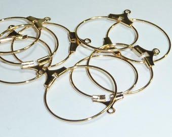 10 20mm gold tone hoop earrings