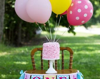 FLAMINGO BANNER / 1st birthday girl / Pink Flamingo banner / Highchair banner / First birthday highchair banner / Flamingo birthday banner