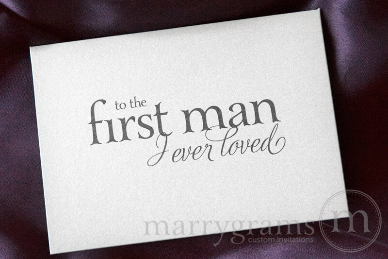 Wedding Card to Your Dad Father of the Bride Cards To the