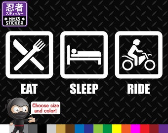 Eat Sleep Ride Vinyl Decal