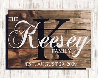 Family Established Wood Signs, Personalized Family Wood Sign, Last Name Established Sign, Custom Family Name Sign, Last Name Wood Sign, Gift