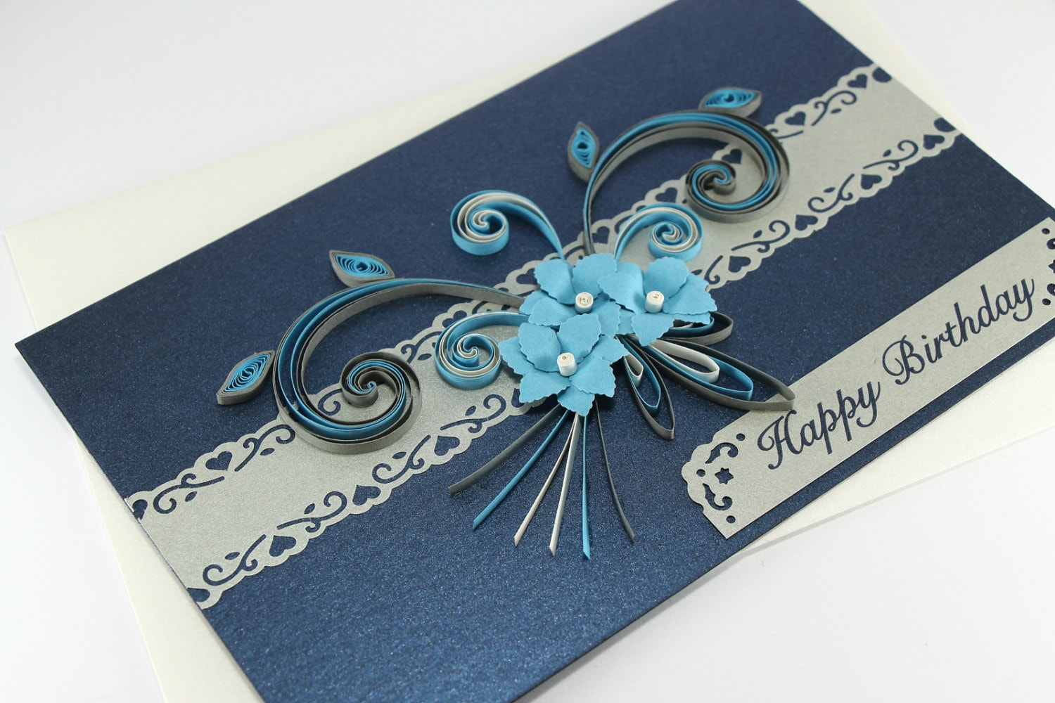 30th birthday card happy birthday card paper quilling card zoom kristyandbryce Choice Image