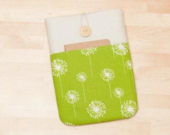 ipad mini 4  case / ipad mini cover / ipad mini sleeve -  Green dandelion -