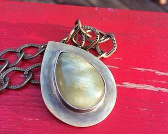 Brass Stone Pendant