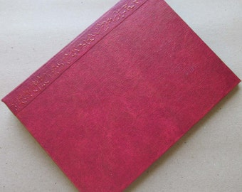 Handmade Refillable Journal Distressed Red 8x6 Original traveller notebook fauxdori