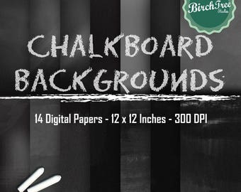 Chalkboard Backgrounds - Chalkboard Textures - Chalkboard Clipart - Chalkboard Digital Paper - Instant Download