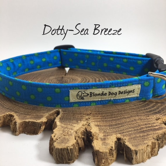 Polka Dot Collar, or, Polka Dot Lead, Sea Breeze, Turquoise Dog Lead, Turquoise Dog Collar, Luxury Dog Collar, Luxury Dog Lead.