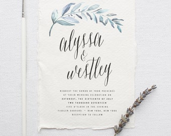 Custom wedding invitations stationery by splashofsilver on etsy organic wedding invitation suite deposit diy rustic calligraphy bohemian deckled edge solutioingenieria Image collections