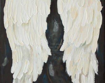 Angel Wings PRINT of my acrylic painting Angel Gratitude