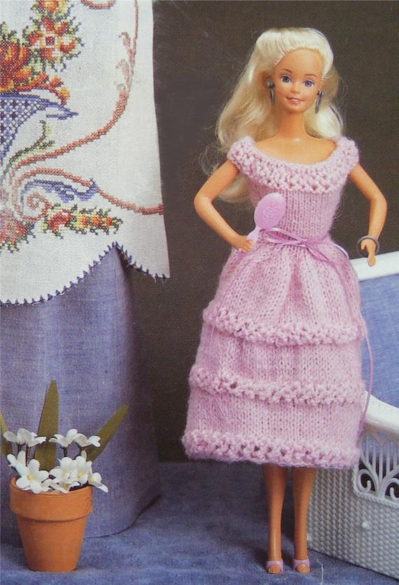 Dolls Clothes Pdf Knitting Pattern 11 12 Inch Dolly
