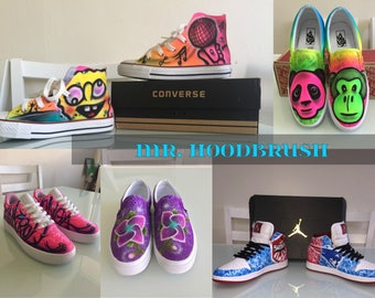 Custom Airbrushed Shoes (Jordan, Nike, Converse, Vans, and many more!!!)