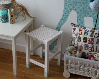 Children's stool in pastel shades