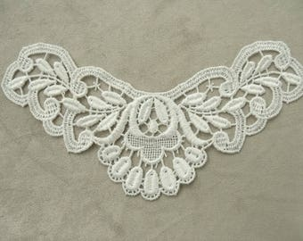 WHITE LACE OVERLAY