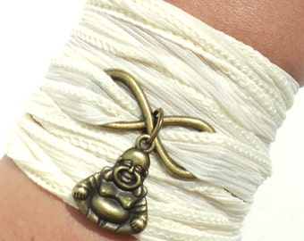 Infinity Silk Wrap Bracelet Buddha Eternity Love Forever New Beginning Mindfulness Namaste Unique Yogi Gift For Her Under 50 Item M15