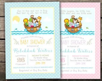 10% OFF Printed Or Digital Noahu0027s Ark Baby Shower ...