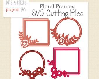 SVG Cutting Files: Floral Frames SVG, Photo Frame SVG