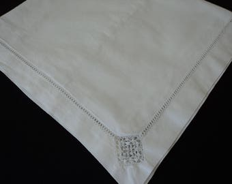 French vintage white cotton large pillow case (05442)