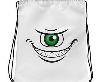 Monster Drawstring bag, Monster backpack drawstring, Monster book bag, School bag, Gym bag, Sportspack