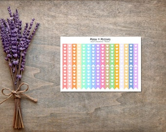 Heart Checklist Planner Stickers - ECLP