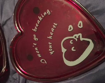 Decorative plates / declaration of love