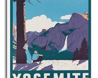 Yosemite Art Vintage National Park Poster Print Canvas Hanging Wall Decor xr881