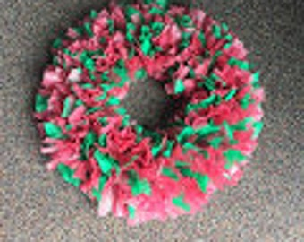 Mauve/Green wreath 18 inches