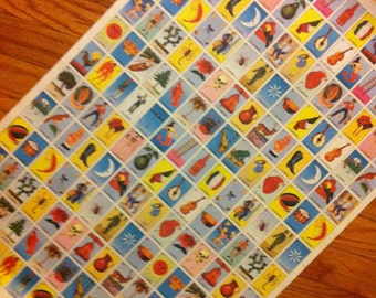 6 Classic Loteria Vintage Wrapping Paper