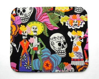 Mouse Pad - Fabric mousepad - Day of the Dead - Home office / computer