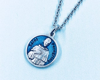 Peregrine necklace etsy patron st of cancer st peregrine necklace st peregrine prayer medal healing necklace st peregrine medal mozeypictures Image collections