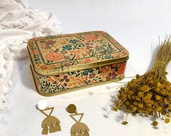 Floral Gold Tin