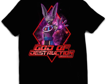 Tshirt DBZ Beerus God of destruction