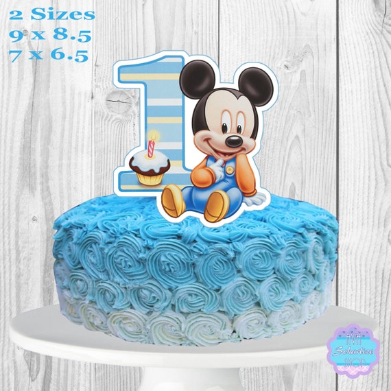 Baby Mickey Mouse Cake Topper Printable You Print
