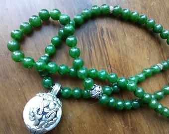 Jade Silver, Nepalese pendant 99x8mm Tasbeh Tasbih,Misbaha, Tespih, Subhah, Islamic