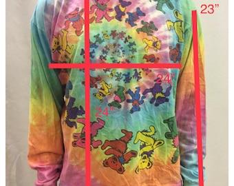 1989 Grateful Dead Bears Tie Dye Long Sleeve T Shirt