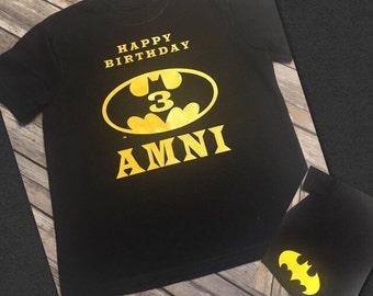 Batman Birthday Shirt- one color