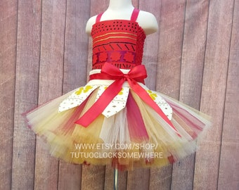 Handcrafted Moana Inspired Tutu Dress, Moana Dress, Moana Outfit, Moana Costume, Moana Tutu Dress, Moana Birthday Outfit, Moana Party