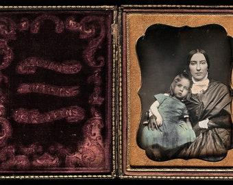 Rare New Orleans Louisiana Photographer Washburn Tinted Daguerreotype 1850s