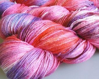 Holly Polly Delight Sock hand dyed sock yarn fingering merino silk 50/50 100g 350m