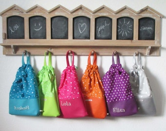 Bag child name unique customizable option (to take in +)-snack in plush pool-Sport-toy