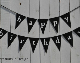 Happy Birthday banner  ..   Party Banner  ...   Adult Birthday