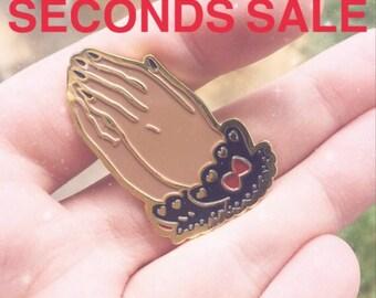 Gothic Lolita Prayer Hands Kawaii Enamel Pin SECONDS SALE