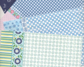 103 - Set of 8 papers for your cards or cake