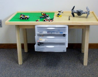 Large Play table with storage drawers